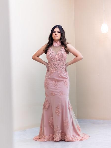 Vestido gola alta/ vestidos de madrinhas de casamento/ atelier leo xavier/ Dress
