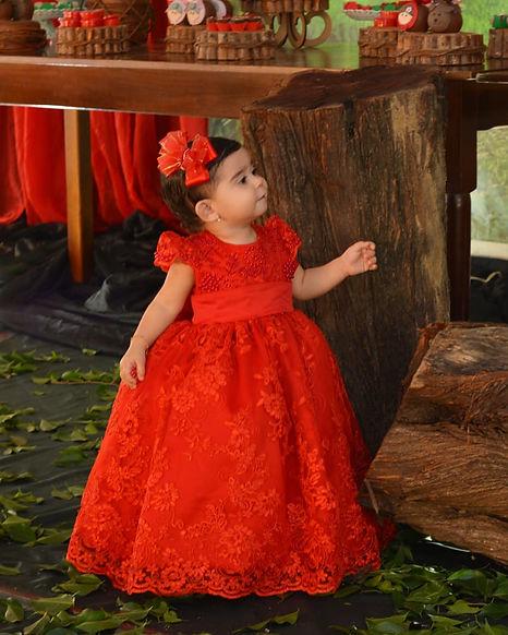 Vestido infantil/ chapeuzinho vermelho/ atelier leo xavier/ estilista/ vestido aniversário/ vestido 1 aninho