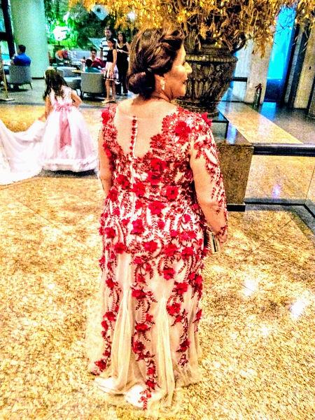 Vestido Mãe e noiva, atelier leo xavier, casamento, flores e bordados 3D