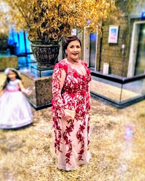 Vestido Mãe de noiva, atelier Leo Xavier, flores 3d