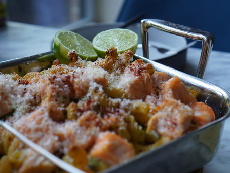 Al Pesto Pasta with Salmon Casserole recipe