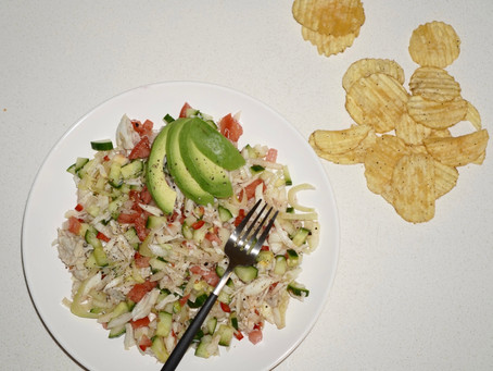 My husband's Favorite Crab Salad Recipe