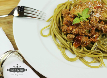 Spicy Spinach - Bolognese recipe