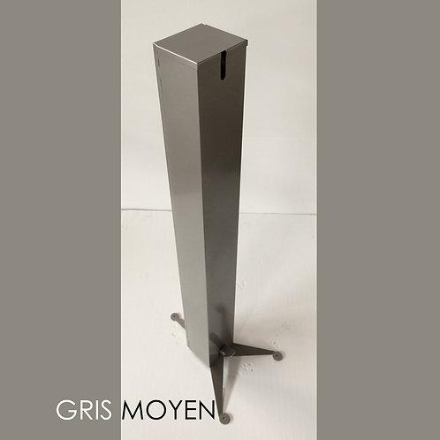 TOTEM 1 GRIS MOYEN Distributeur Gel Solution Hydro Alcoolique
