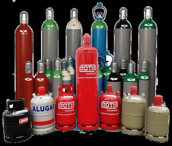 Propangas, technische Gase, Helium, Saerstoff, Acetylen, Schweißgas