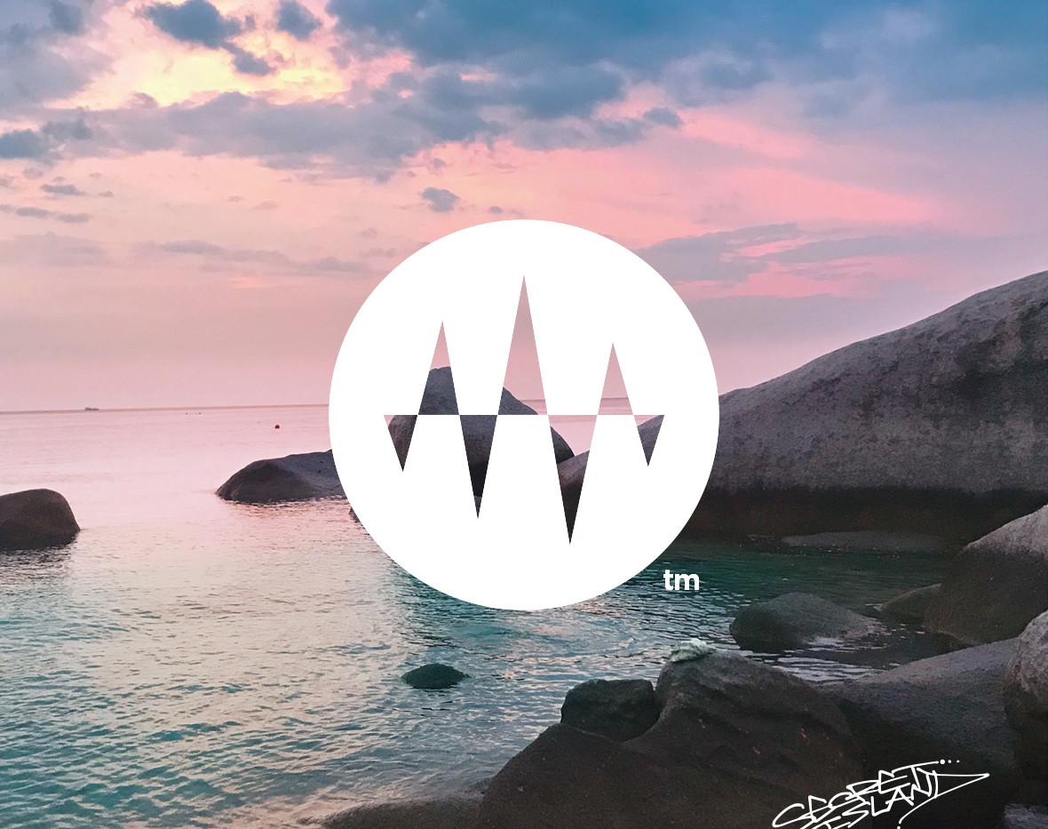 Sunset Side 06.Silent Rock Wave 1 岩場の波1「