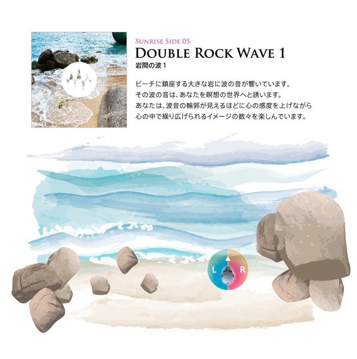 Sunrise Side 05.Double Rock Wave 1 岩間の波1