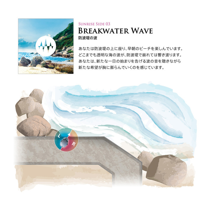 Sunrise Side 03.Breakwater Wave 防波堤の波「希望