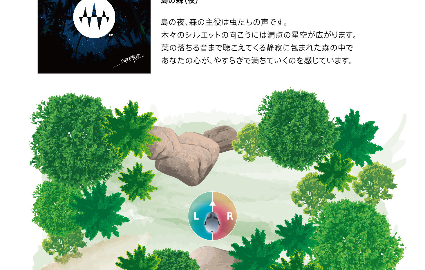 Sunset Side 04.Island Forest (Night) 島の森