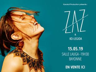 Zaz & Ko-legioa - 15/05/2019 - Salle Lauga Bayonne