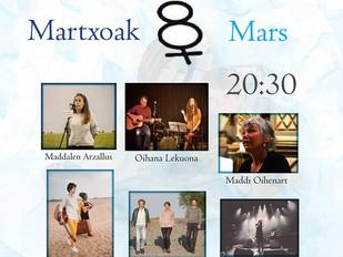 Emazteak Kantuz # 08.03.18 # 20:30 # Cinema Théatre les Variétés Hendaye