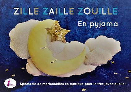 Affiche zille zaille zouille en pyjama