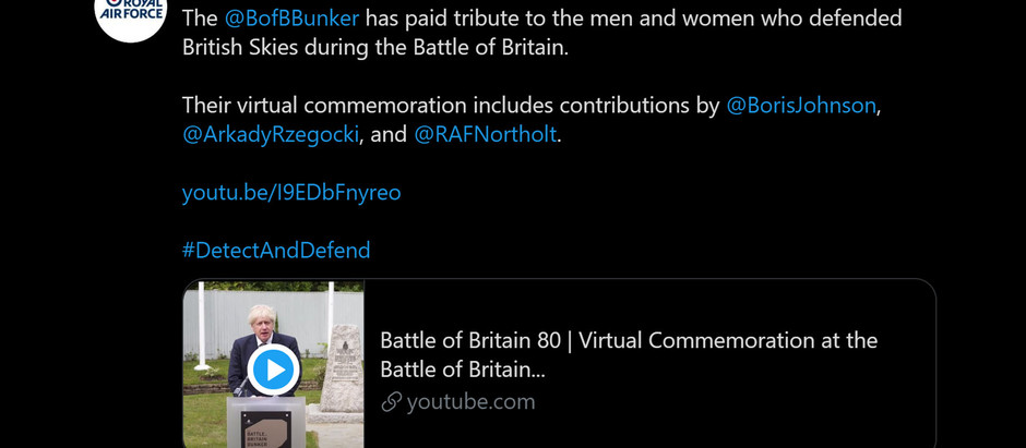Battle of Britain Anniversary Video Projects