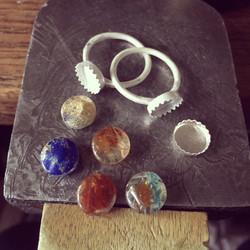 ETSY ring ghost gear stacker rings