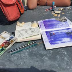 sketch book walking tours