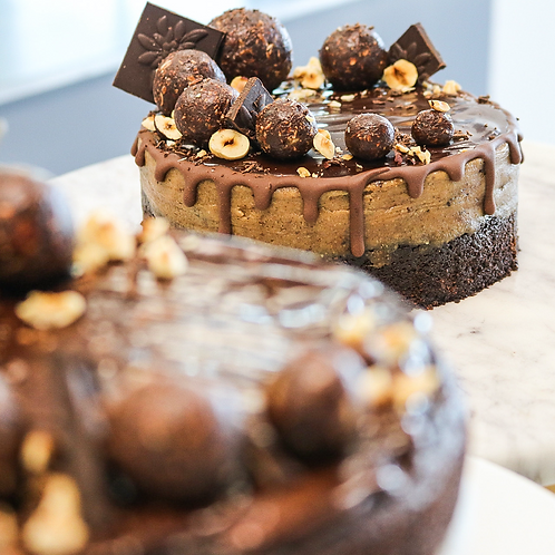 Brownie Cookie Dough Cake - By Giselle's Vegan Kitchen