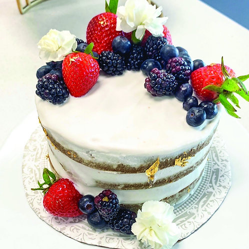 Golden Vanilla Cake - By Giselle's Vegan Kitchen