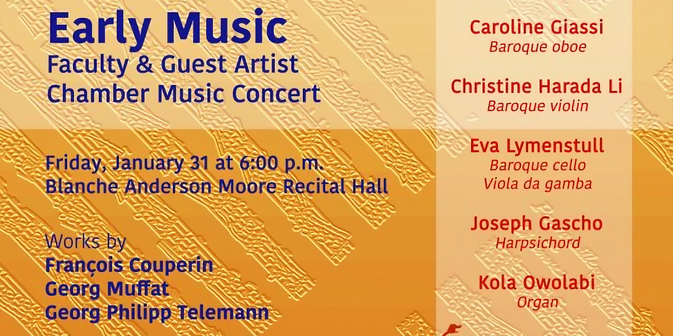 Early Music Faculty & Guest Artist Chamber Music Concert