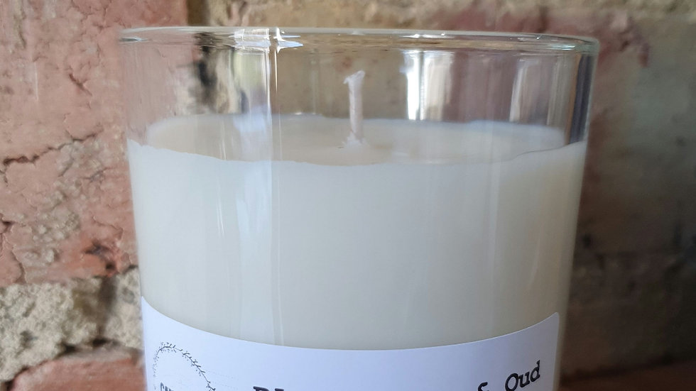 Black Rose & Oud 230ml clear candle