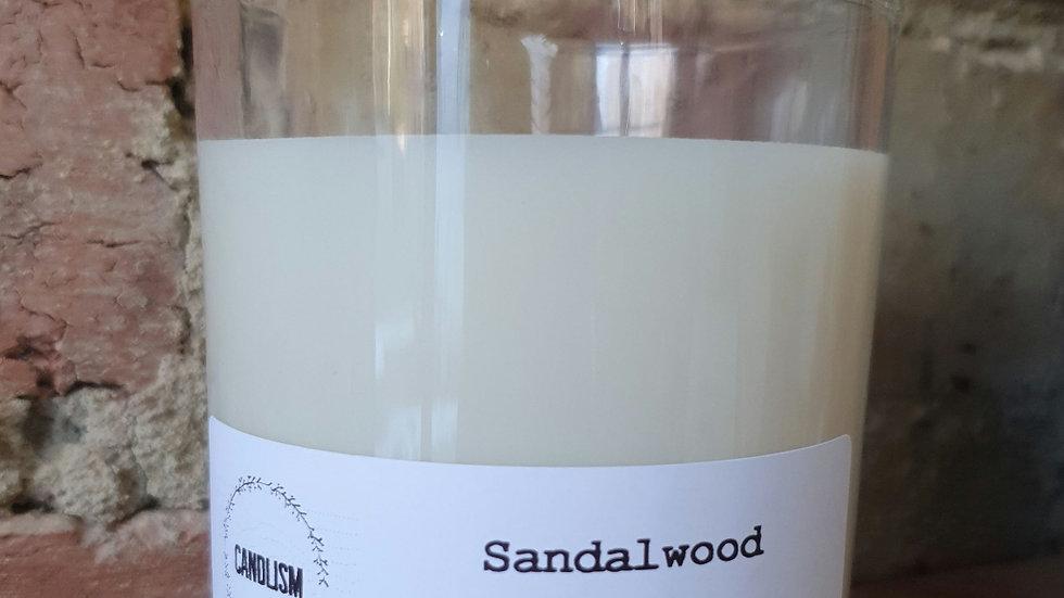 Sandalwood 230ml clear candle