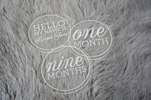 Clear Acrylic Month Markers