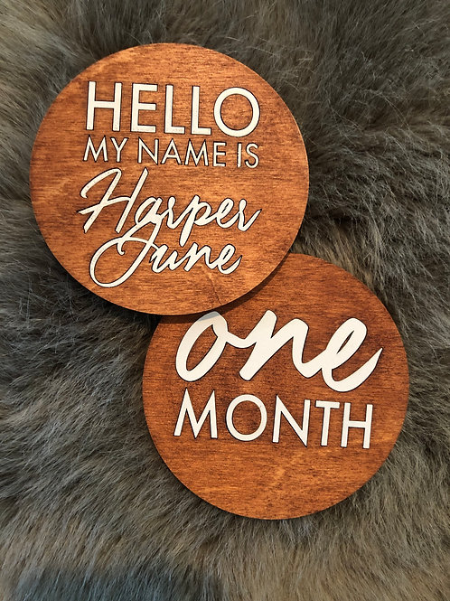 Wood Inlay Month Markers