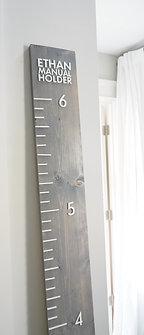 """5.5"""" wide x 6' Tall Custom Wood Growth Chart"""