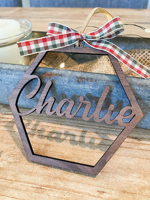 Custom Name Cutout Ornament