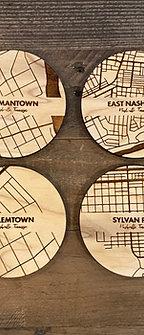 Map Coaster Set (4) - Nashville Neighborhoods