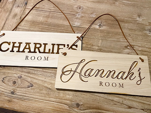 """Custom Name Door Sign - 12""""x5.5"""""""