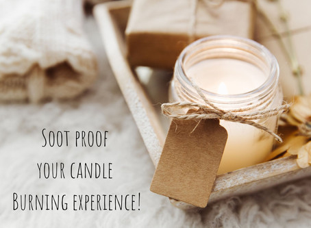 Soot proof your candle burning experience!