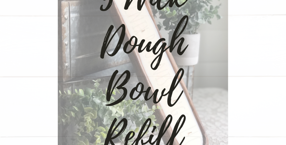 5 Wick Dough Bowl Candle Refill