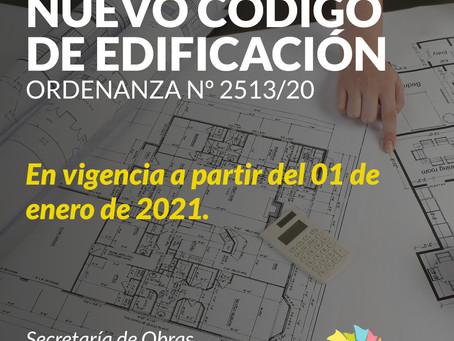 NUEVO CÓDIGO DE EDIFICACIÓN