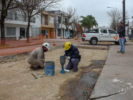 Avances en la repavimentación de calle Libertad