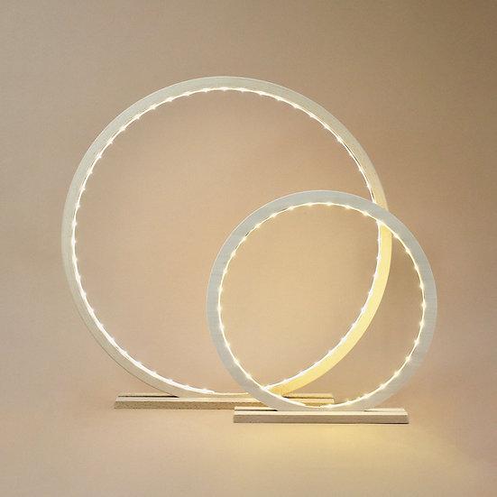 LAMPE CERCLE EN BOIS PEINT