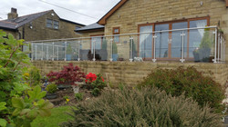 Stainless steel & glass balustrade