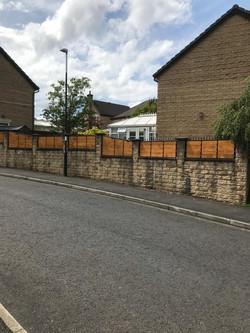 Steel framed fence panels