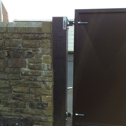 Mild steel gates hinge detail