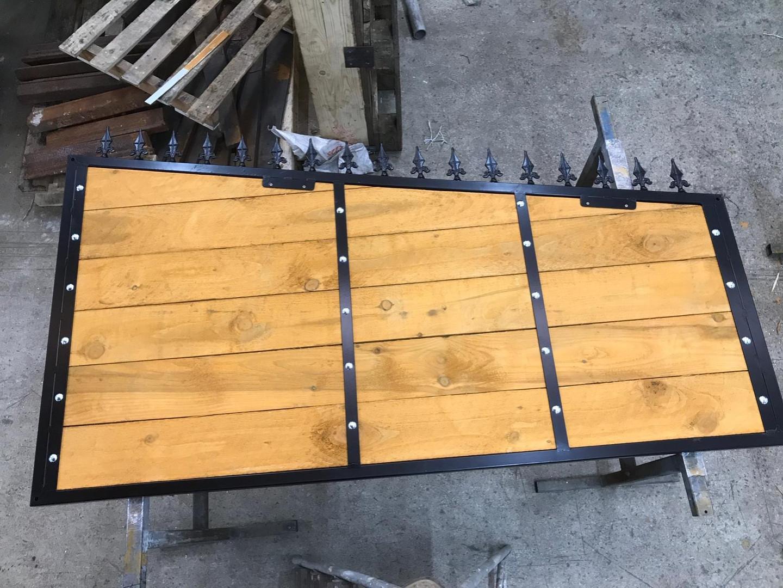 Steel framed fence panel