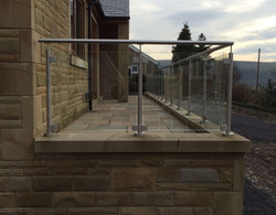 Stainless steel balustrades with glass inserts - Cliviger, Burnley