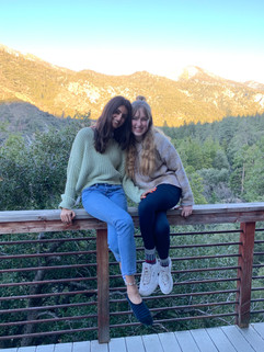 karina and natalie together in Big Bear