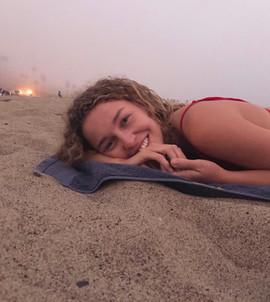 sophia looking radiant at the beach