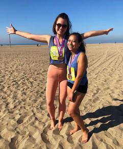 laine and arni complete a half marathon