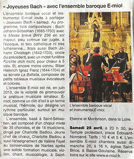 Ouest France Avril 2015