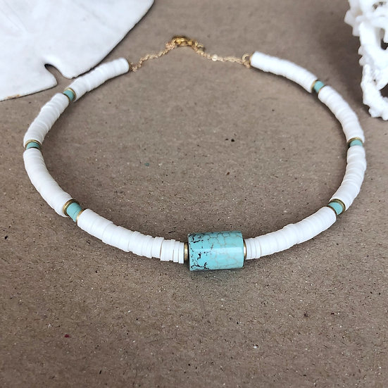Collier HEISHI pierre turquoise