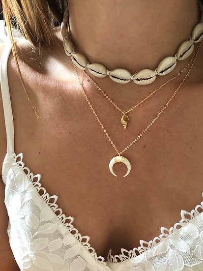 Collier/choker coquillages MOANA
