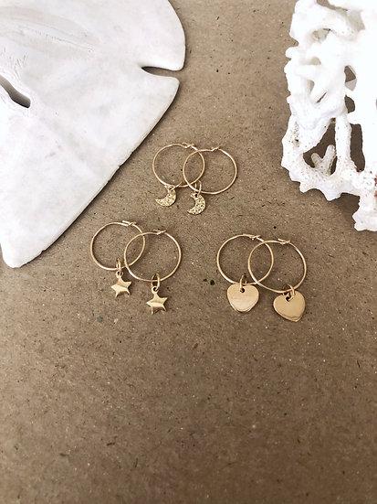 Boucles d'oreilles MINI OR