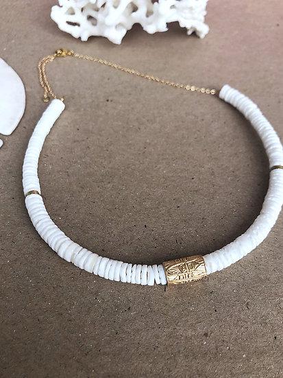 Collier HEISHI perle aztèque