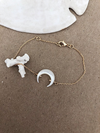 Bracelet corne nacrée ALOHA