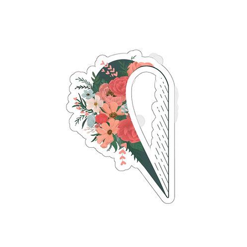 Opened Heart Die-cut Sticker